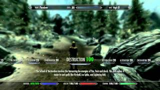 Skyrim - How to modify your: Level, Perks, Skills and Spells