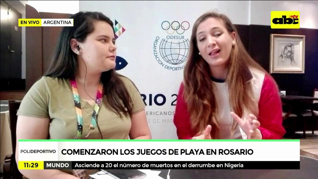 Comenzaron los juegos de playa en Rosario