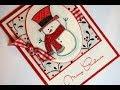 Snowman CHRISTMAS CARD - YouTube