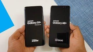 Samsung Galaxy S9+ vs Samsung A8+ (2018) Speed Test Comparison !!