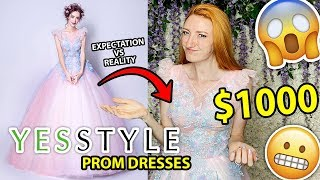 YESSTYLE HAUL | $1000 PROM DRESS TRY ON 2019  😬😱*expectation Vs Reality*