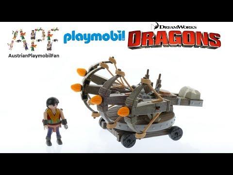 Vidéo PLAYMOBIL Dragons (DreamWorks) 9249 : Eret et baliste à 4 projectiles de feu