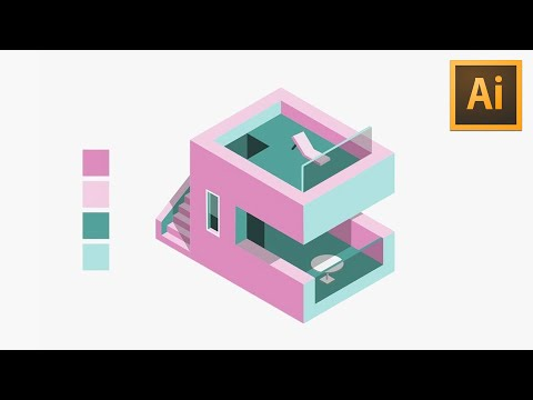 Build An ISOMETRIC HOUSE In Adobe Illustrator