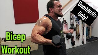 Intense 5 Minute Dumbbell Bicep Workout #2 by Anabolic Aliens