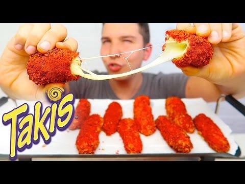 CHEESE STUFFED TAKIS • Mukbang & Recipe