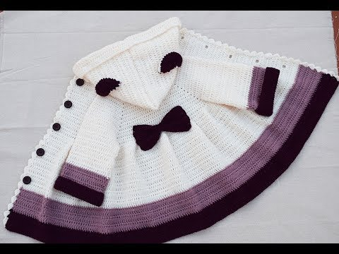 Abrigo para niña a crochet muy fácil #tutorial