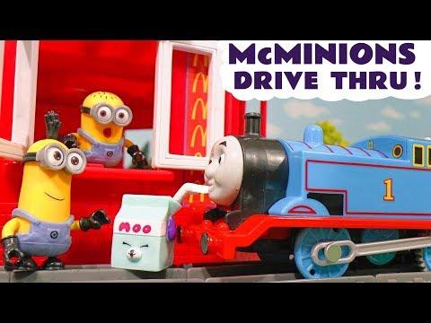 Thomas The Tank Engine Minions McDonalds Drive Thru Trouble Shopkins Food - Toys for kids TT4U