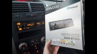 Kenwood KMM-BT325 Radio Install and Review