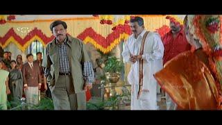 Dr.Vishnuvardhan Thrilling Entry to marry Priyanka | Powerful Scene from Kotigobba Kannada Movie