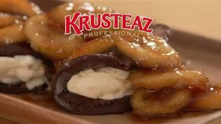 Caramelized Banana Chocolate Pancake Wraps