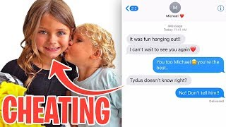 We CAUGHT Mini Jake Paul's Girlfriend CHEATING On Him!