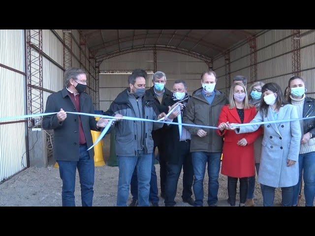 Bordet inauguró la planta de tratamiento de residuos en El Pingo