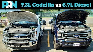 Ford's 7.3L Godzilla V8 vs 6.7L Power Stroke Turbo Diesel V8 | Ford Super Duty Engines