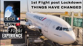 Flying during COVID19 | Air France Airbus A330 New Cabin | Paris to Tunis Carthage | Premium Economy