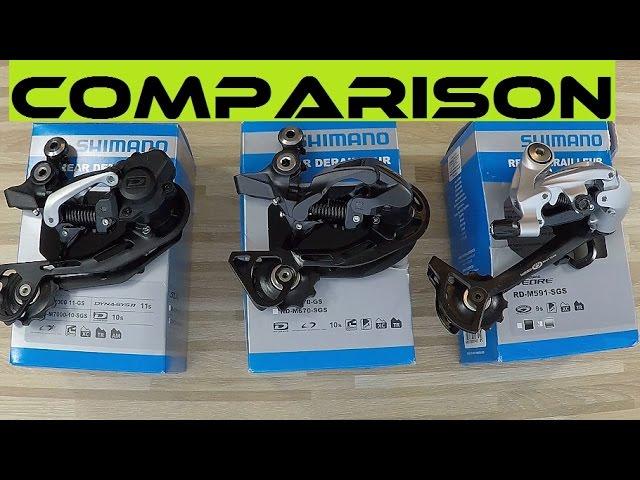 Видео Задний переключатель Shimano Deore RD-M5100-SGS Shadow+ 11 speed, длинная лапка