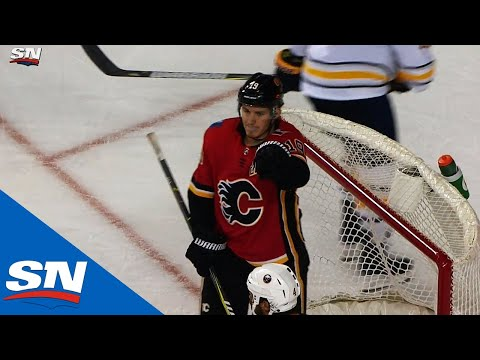 Flames' Tkachuk Finishes Off Great Passing By Lindholm, Gaudreau