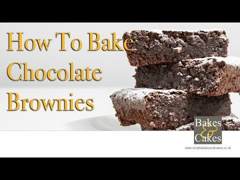 How to bake chocolate brownies: Video recipe