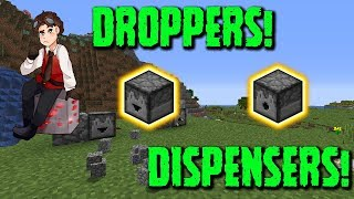 Redstone Tutorial - DROPPERS! DISPENSERS!