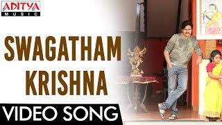 Swagatham Krishna Video Song || Agnyaathavaasi Video Song || Pawan Kalyan, Keerthy Suresh || Anirudh