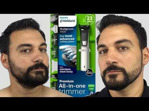 Beard Trimming - Philips Norelco Multigroom 7000 - Model MG7750