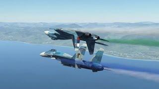 DCS World Y2K - Su-33 - In-flight refueling - Дозаправка в воздухе.