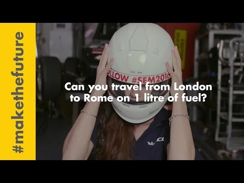 Can you travel from London to Rome on 1 litre of fuel?