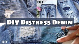 DIY Distress Jeans ( Top Most:- 4 Ripped Distressed Denim )