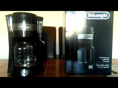 Delonghi icm15210 filter coffee maker review.