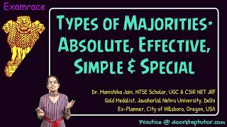 Types of Majority: Absolute, Effective, Simple & Special Majority | Political Science