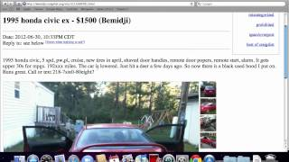 Craigslist Bemidji Used Cars and Trucks - Private For Sale by Owner Listings Offer Low Prices