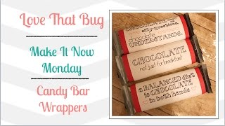 Cricut Explore |MIN| Candy Bar Wrappers