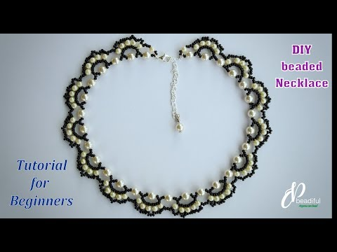 Easy Beaded Pearl Necklace | How to make Beaded Necklace | DIY jewelry Tutorial for Beginners