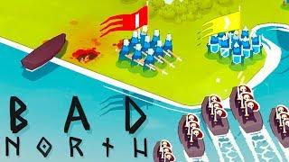 DEFENDING the VIKING Homeland - Bad North Gameplay