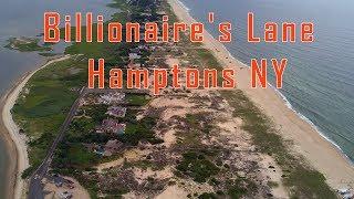 Billionaire's Lane - The Hamptons in New York. Aerial / Drone View Dji Mavic Pro
