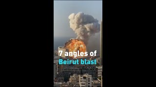 Mushroom cloud over Beirut: Video from 7 different angles