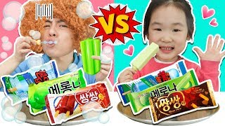 Real food Challenge!  Ice cream vs Soap ice cream- MaShu Toys Review