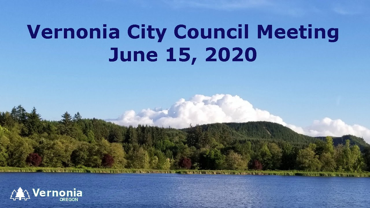 City Council Meeting - June 15, 2020