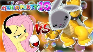 DRUNK Fluttershy plays Mario Party 10 🍉 | ANGEL BUNNY IS BOWSER [HILARIOUS] Part 2