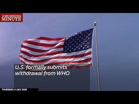 U.S. formally submits withdrawal from WHO