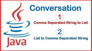 #Comma Separated #String to #List in Java
