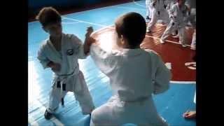 """Детская тренировка по каратэ. Клуб """"Ронин"""".г. Житомир 2015г."""