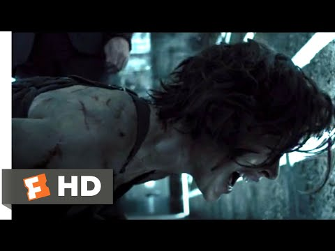 Resident Evil: The Final Chapter (2017) - Laser Corridor Confrontation Scene (10/10) | Movieclips