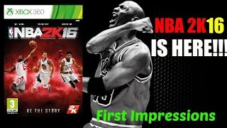 NBA 2K16 IS HERE!!! (Xbox 360/PS3) First Impressions + New Features