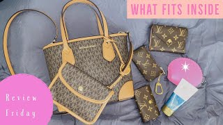 MICHAEL KORS | Review Friday | Eva Extra Small Logo Tote Bag | What Fits Inside