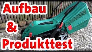 Produkttest Rasenmäher Bosch arm 34r | Aufbau | Anleitung | Tipps und Tricks
