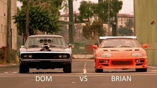 The Fast and The Furious (2001) Dominic Vs Brian Ending Race