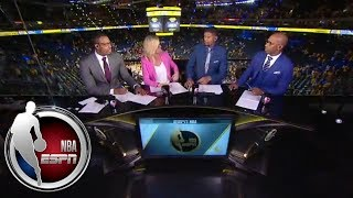 Chauncey Billups and Paul Pierce in awe over Steph Curry's Game 2 performance   NBA Countdown   ESPN