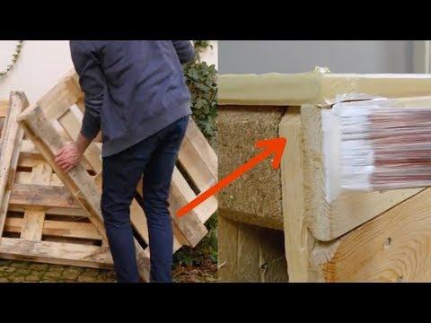 Diesen Knaller kannst du aus 4 alten Paletten bauen.