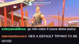 I put Twitch in my Fortnite name and thirsted every kill in solo squads...