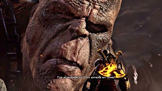 God of War 3 PS4 - Cronos Titan Boss Fight (1080p 60fps) Father of Zeus